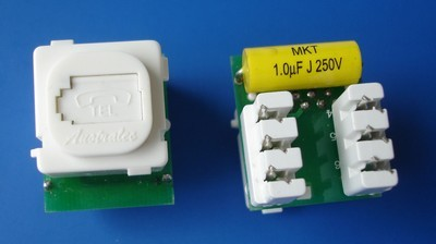8606UK TM-6102 UTP RJ11 Voice keystone jack 8606UK TM-6102 UTP RJ11 Telefoon Voice keystone jack