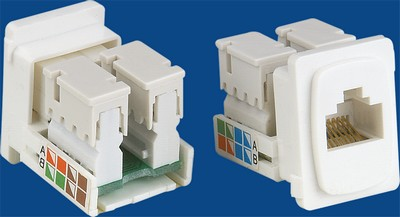 TM-8110 Rj45 Connecto Cat.5E gegevens keystone jack TM-8110 Rj45 Connecto Cat.5E Nerwork gegevens keystone jack
