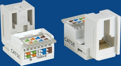TM-8204 Cat.5E Cable RJ45 gegevens keystone jack TM-8204 Cat.5E Cable RJ45 netwerk gegevens keystone jack